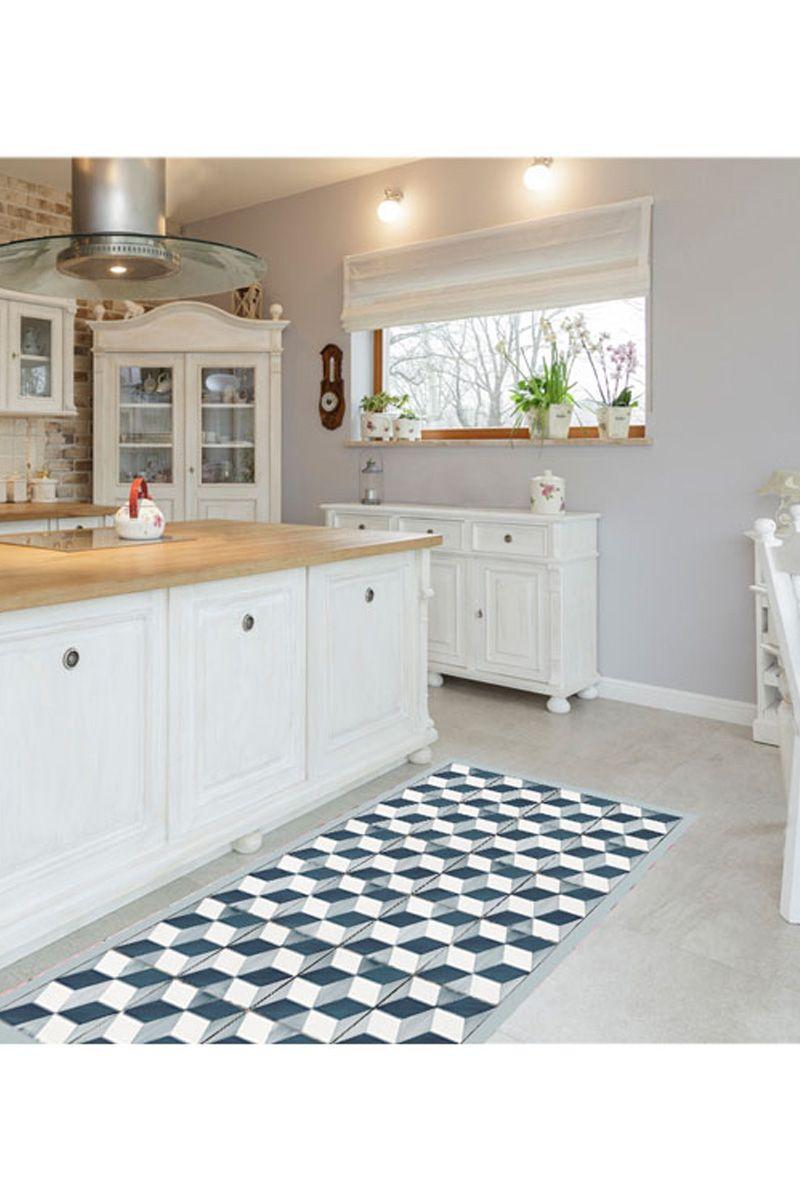 Vente Floorart 27089 Tapis De Cuisine Graphiques Et Vintage Tapis Cubos Home Kitchen Kitchen Cabinets
