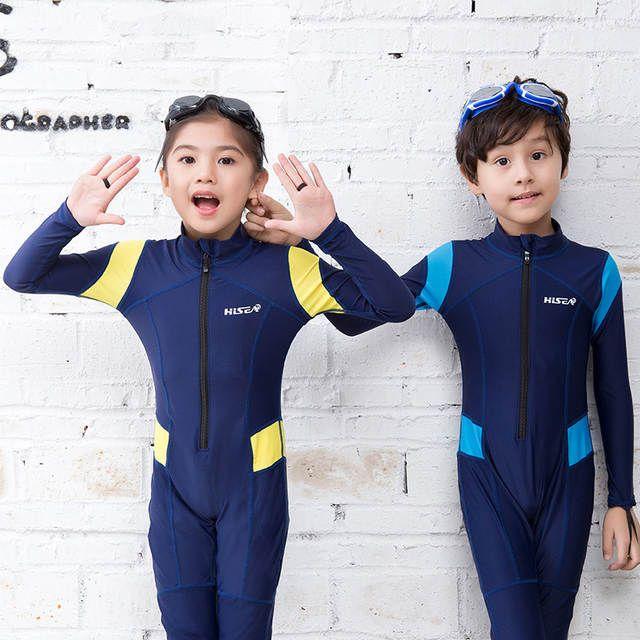 ea8a745868 One Piece Diving Suit New Lycra Long Sleeve Wetsuit Kids Swimsuit ...