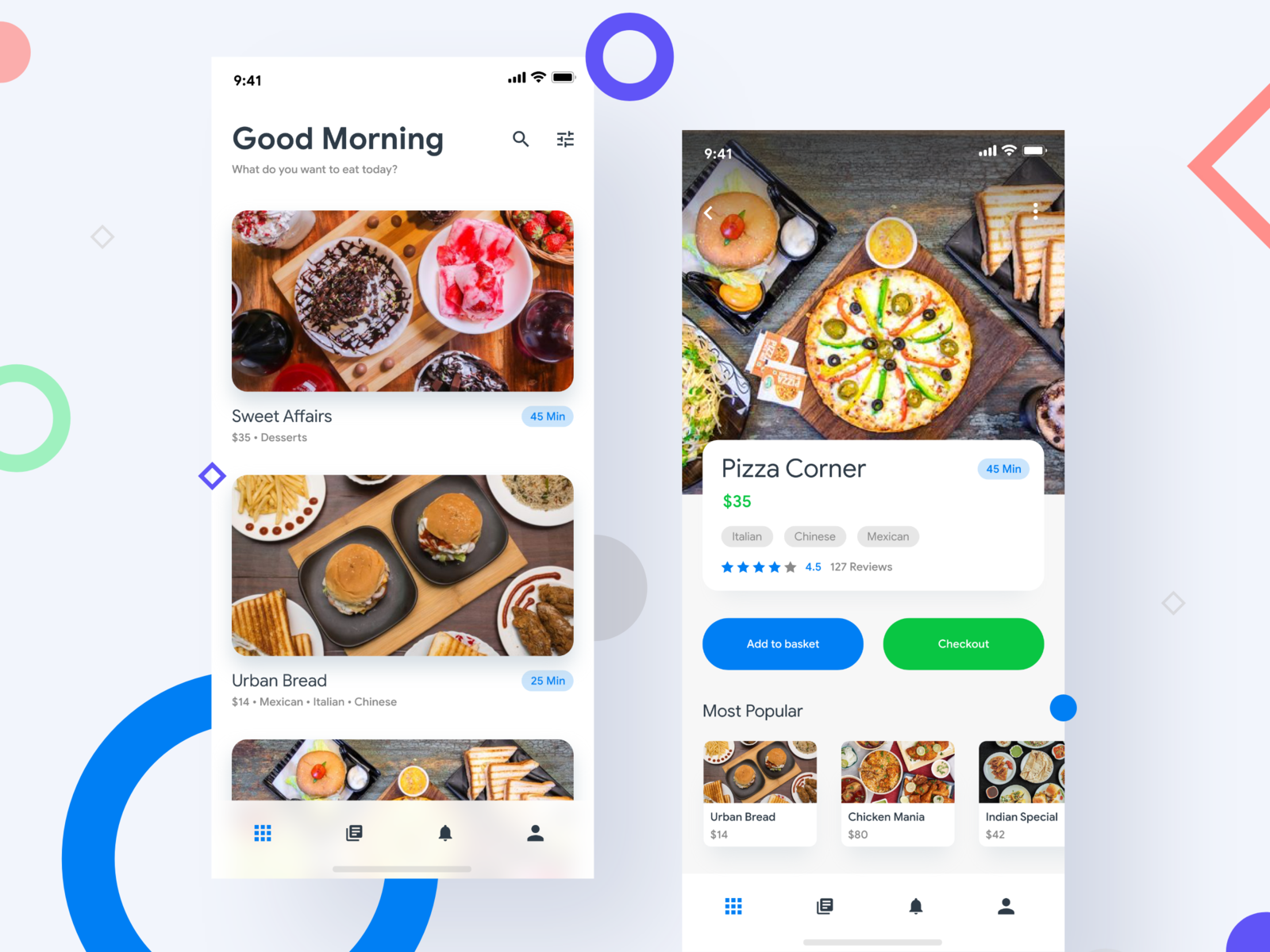 Food Delivery - App UI | Ui design | Delivery app, App ui