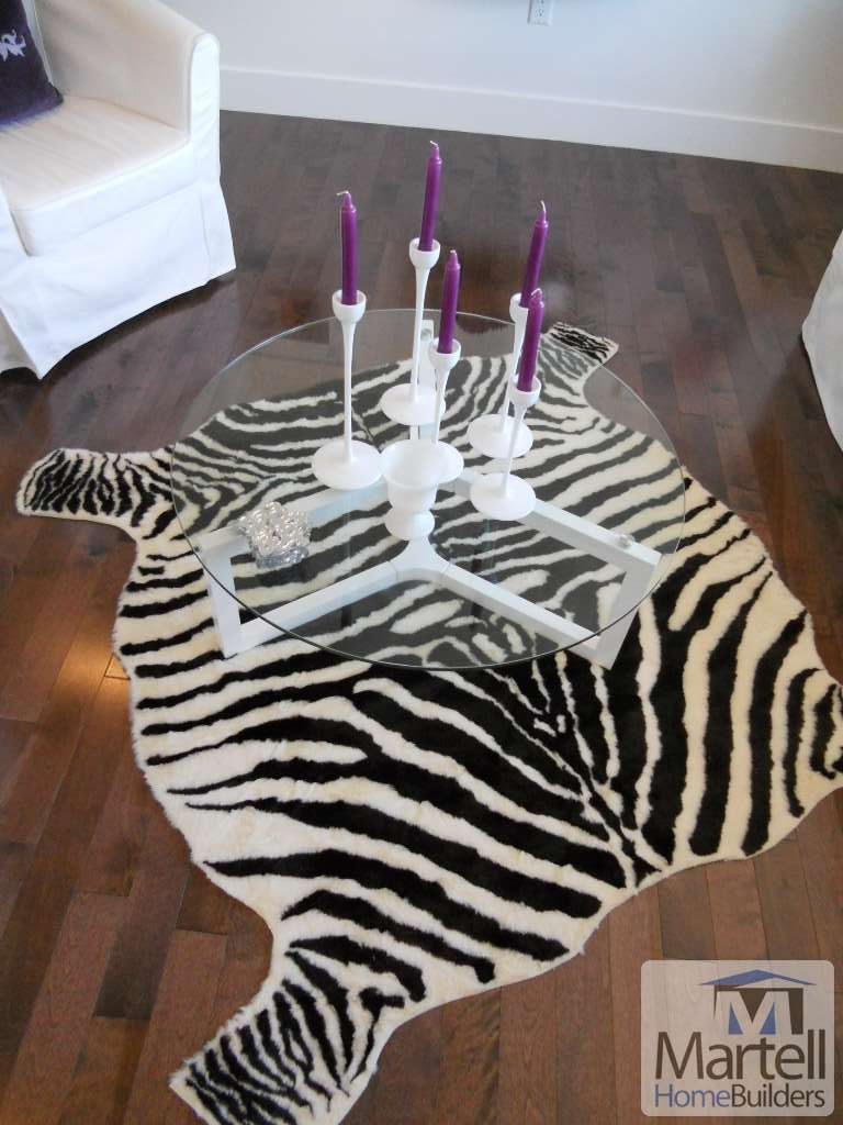 Zebra Print Rug + Purple Candles = perfection! | Martell ...