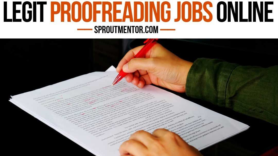 45 entry level online proofreading jobs from home