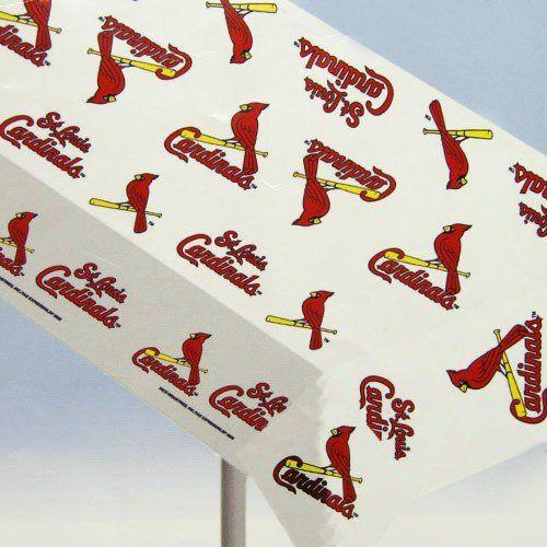 St Louis Table Clothes St Louis Cardinals Plastic
