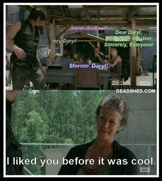 Walking Dead Meme Season 4 Carol Carol liked Dar...
