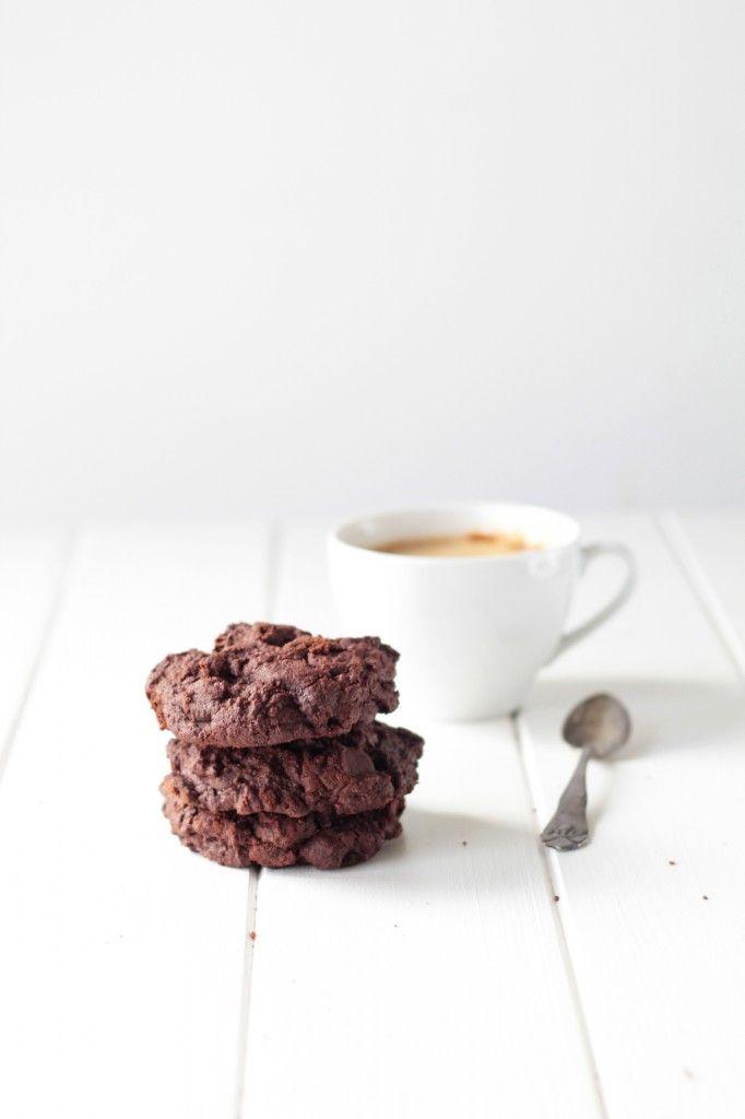 Chokolade Cookies Med Chokoladestykker Opskrift Med Billeder Chokoladestykker Smakager Opskrifter Chokolade