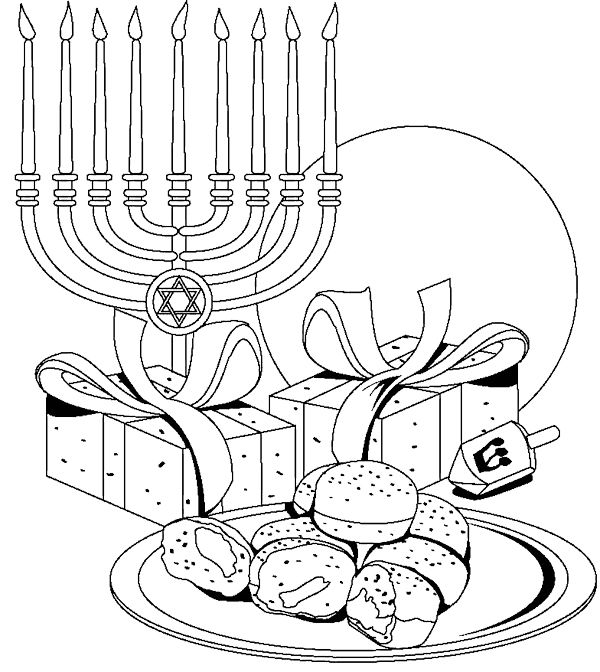 Happy Hanukkah Coloring Page With Images Coloring Pages For