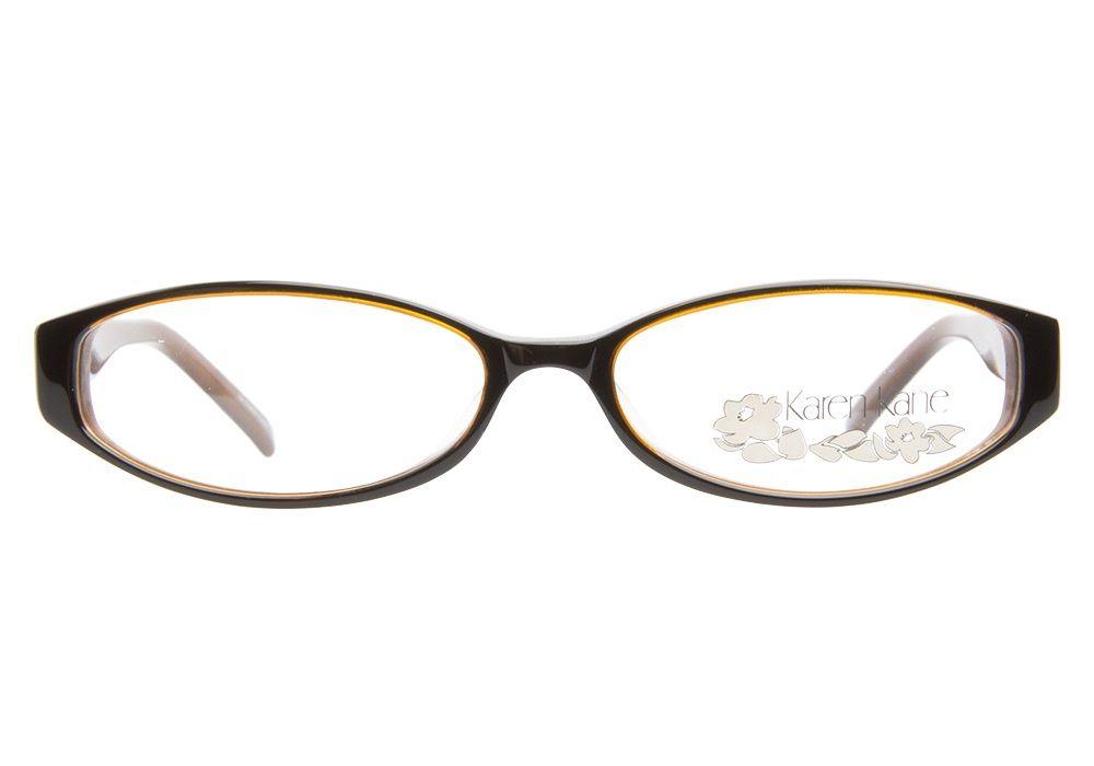Tune in to these two-toned Karen Kane Crinkle Black Brown eyeglasses ...
