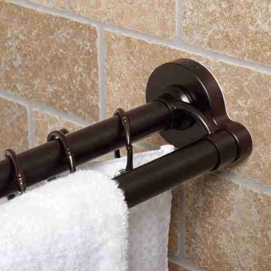 Oil Rubbed Bronze Shower Curtain Rod Shower Curtain Rods Double
