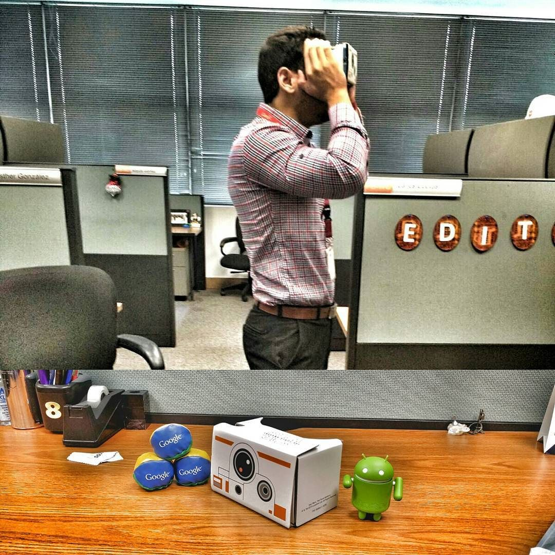 An awesome Virtual Reality pic! Geek 4 life  This is F#$&% Awesome  Thanks @google for the gift  me siento como un niño con juguete nuevo  #GoogleCardboard #VirtualReality #VR #LimitedEdition #StarWars by armandocorti check us out: http://bit.ly/1KyLetq
