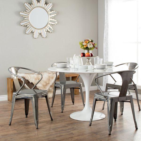 Gunmetal Grey Tabouret Stacking Chair Set Of 4  Stacking Inspiration Dining Room Chair Set Of 4 Inspiration