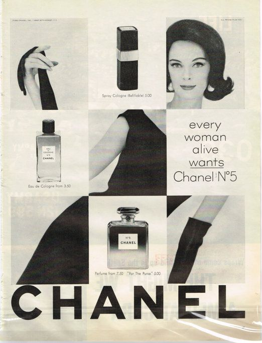 1960's Chanel No. 5 | vintage luxury advertysing ...