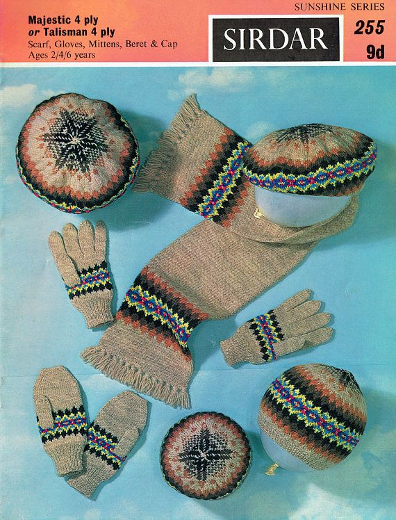 PDF Vintage 1950s Baby Knitting Pattern Sirdar 255 ...