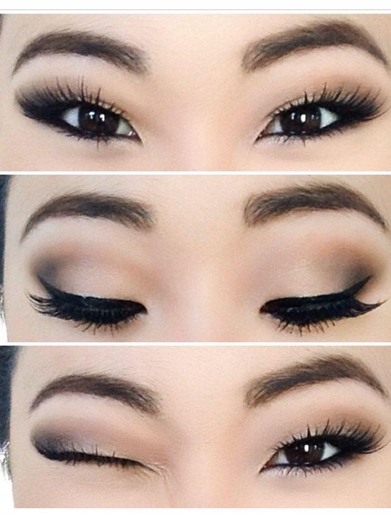 Neutral Smokey Eye Prom makeup