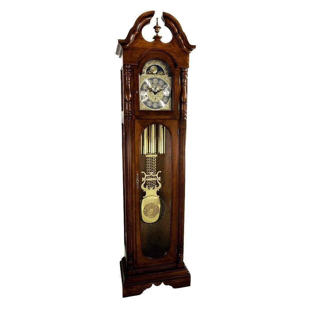 Hermle Needham Grandfather Clock With Triple Chimes 010864031161 Walnut Grandfather Clock Clock Grandmother Clock