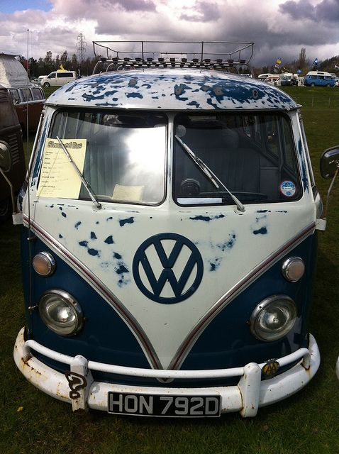 Slammed VW Campervan by JacquiJSB, via Flickr