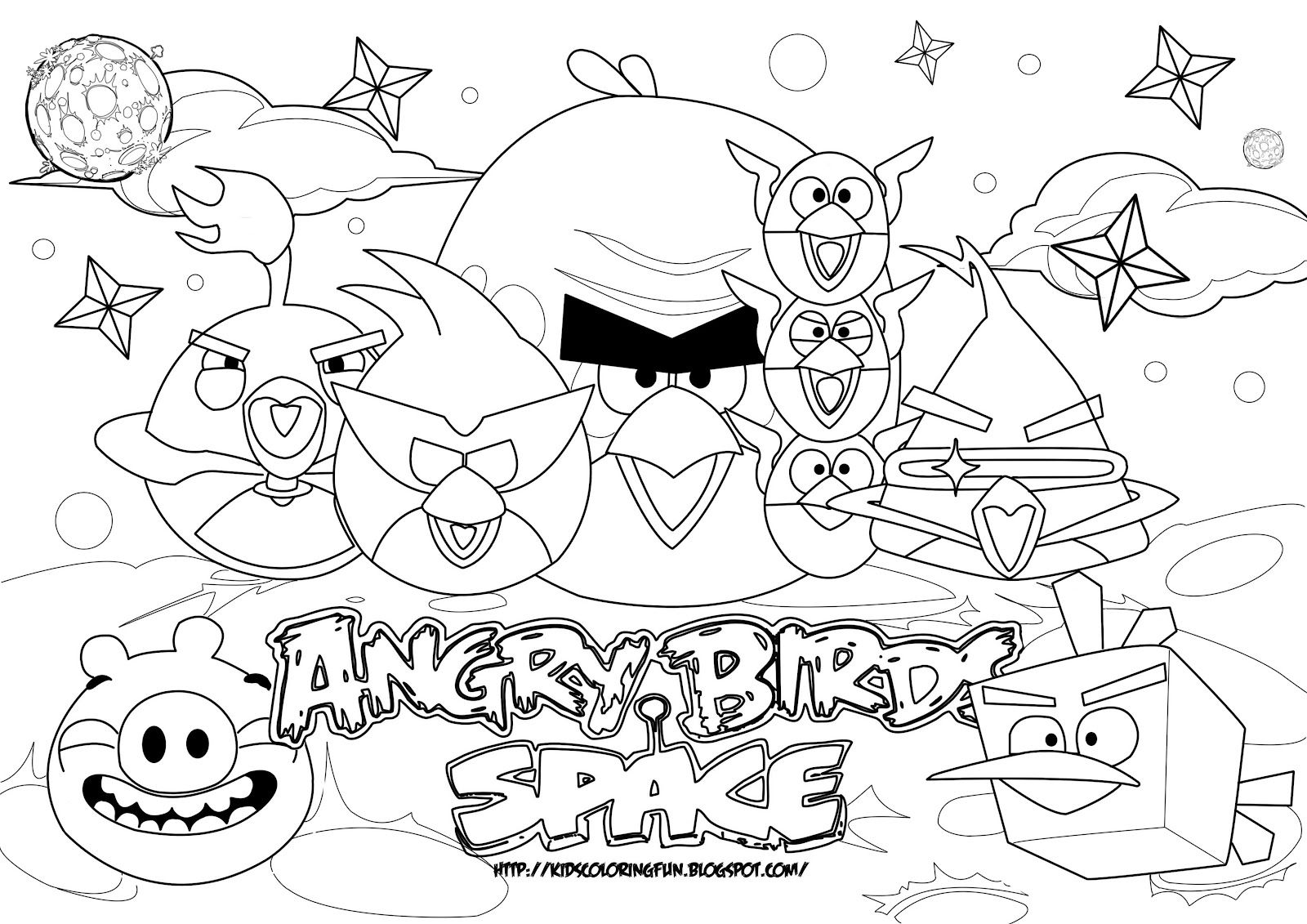 Angry Bird Coloring Pages Space Coloring Pages Free Coloring Pages