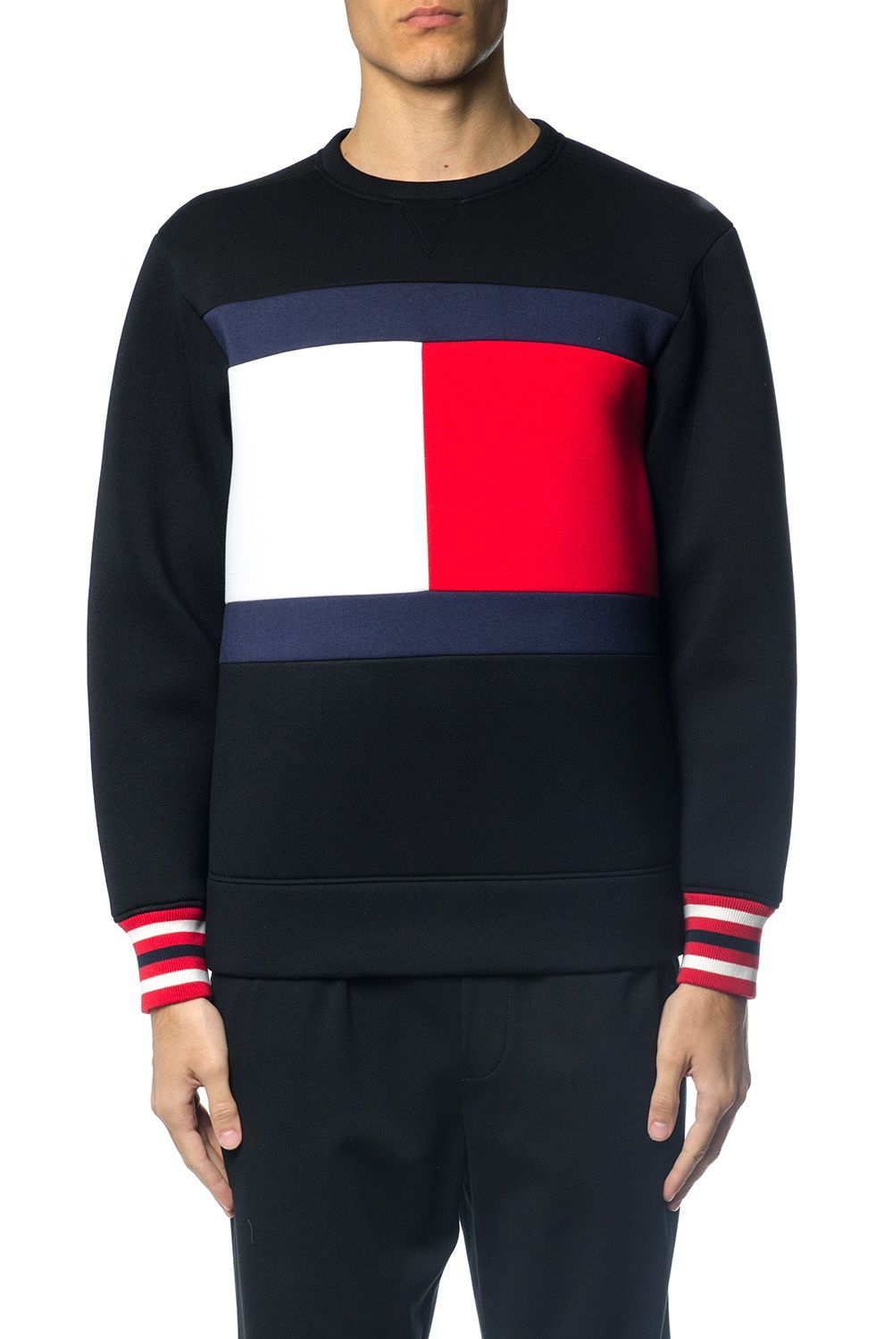 fb37a315 TOMMY HILFIGER NEOPRENE FLAG JUMPER. #tommyhilfiger #cloth # | Tommy ...