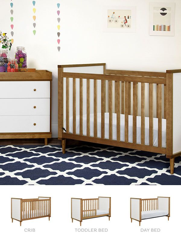 The Babyletto Skip 3 In 1 Crib Easily Converts To A