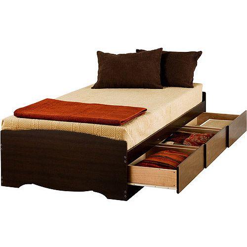 Edenvale Twin XL 3-Drawer Platform Storage Bed, Espresso