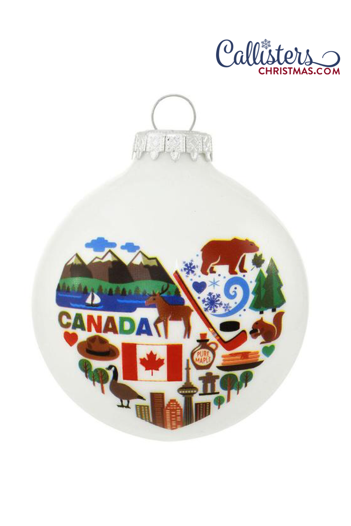 Canada Ornament Old World Christmas Ornaments Personalized Christmas Ornaments Glass Christmas Balls