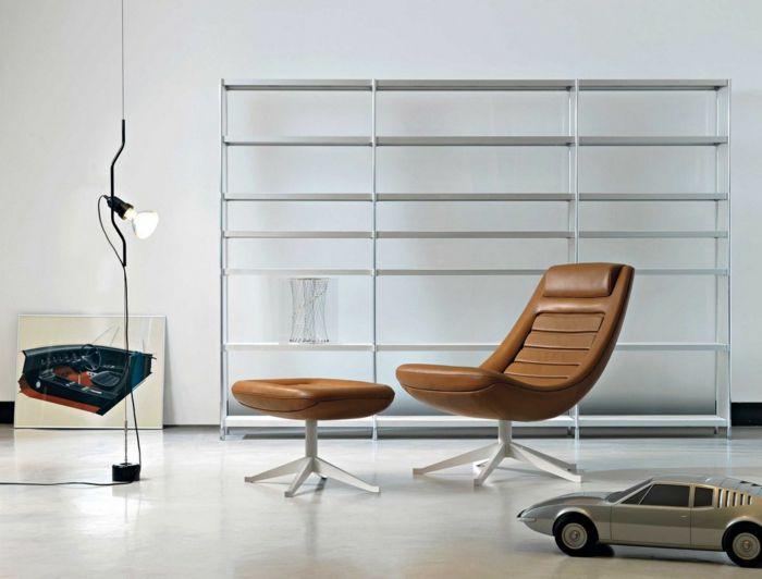 awesome moderne sessel braun hocker wohnzimmer einrichten Hair by