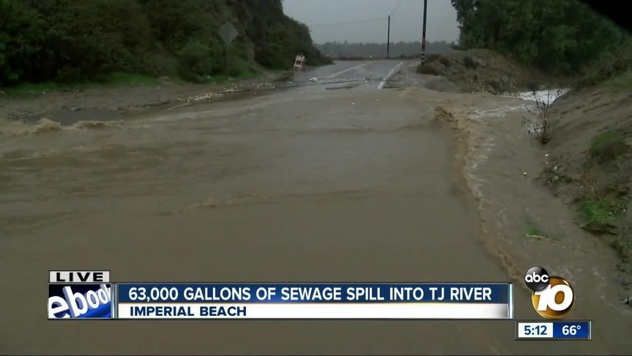 63000 gallons of sewage spill into tijuana river sewage