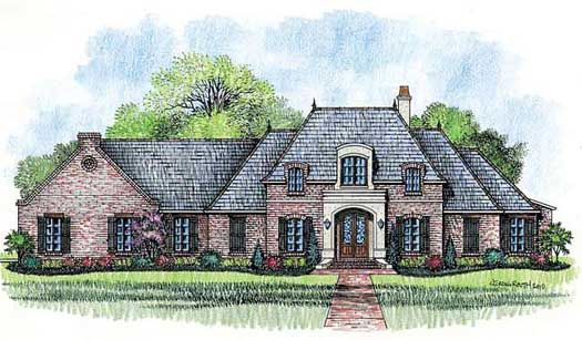 Exceptionnel French Country Style House Plans   3862 Square Foot Home, 1 Story, 4