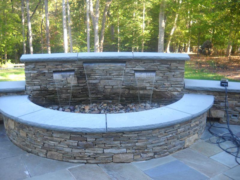 Stone Veneer Retaining Wall Stone Veneer Waterfalls Backyard Retaining Wall Exterior Stone