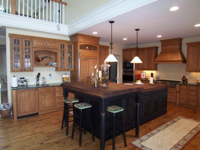 Acacia Floors With Alder Cabinets Cabinets Country