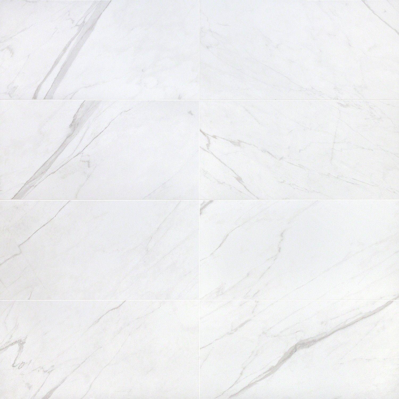 Basic Marble Bianco 12x24 Matte Porcelain Tile Porcelain Flooring Porcelain Tile Marble Look Tile