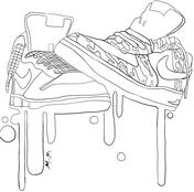 Nike Sneakers Coloring Page Jordan Coloring Book Coloring Books Coloring Pages