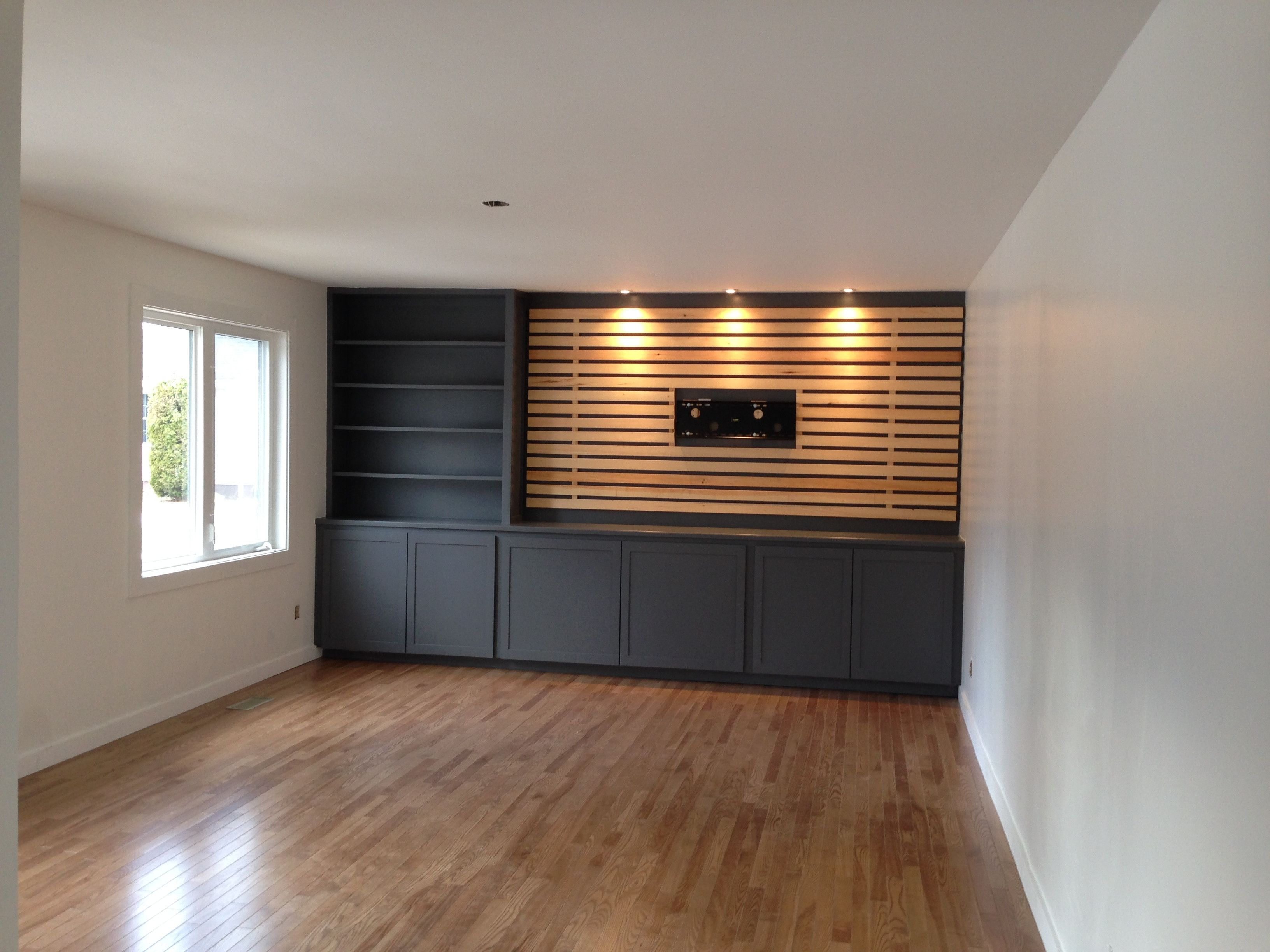 Diy Wood Slats Tv Accent Wall By Reimagine In 2020 Wood Slat Wall Wood Accent Wall Slat Wall