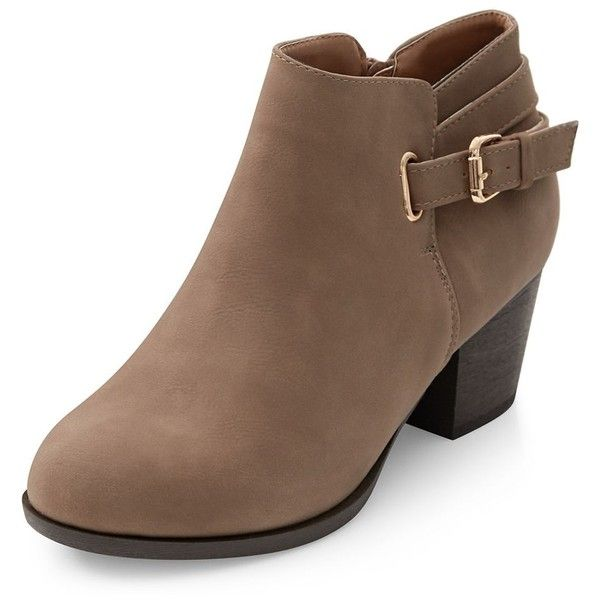 123505189b25 Wide Fit Light Brown D-Ring Ankle Boots ( 34) ❤ liked on Polyvore ...
