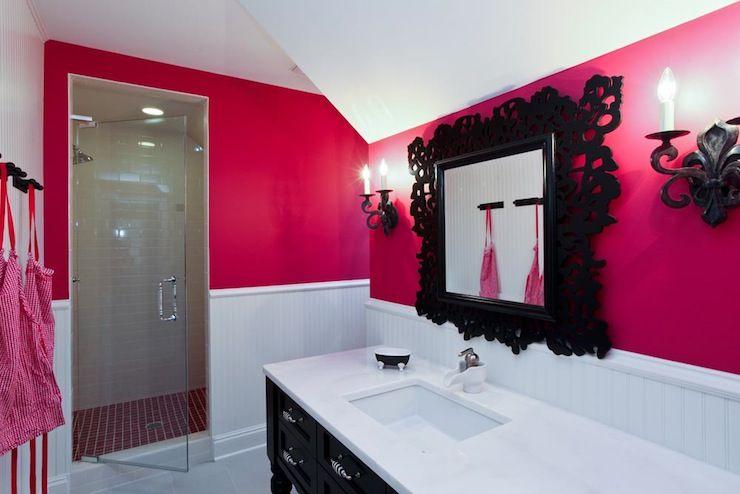 Pink And Black Bathroom Contemporary Bathroom Refind Hot Pink Bathrooms Feminine Bathroom Girls Bathroom