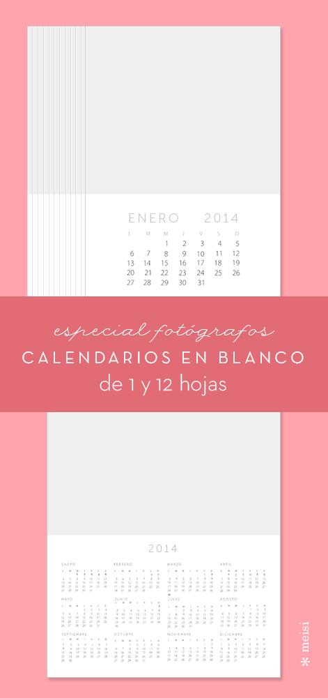 Plantillas de calendario en blanco para fotógrafos #fotografos ...