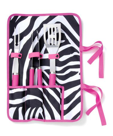 Take a look at this Black & White Zebra Barbecue Set by Black & White: Kitchen Essentials on #zulily today!