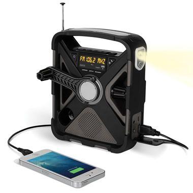 The Best Emergency Radio - Hammacher Schlemmer   Perfect for