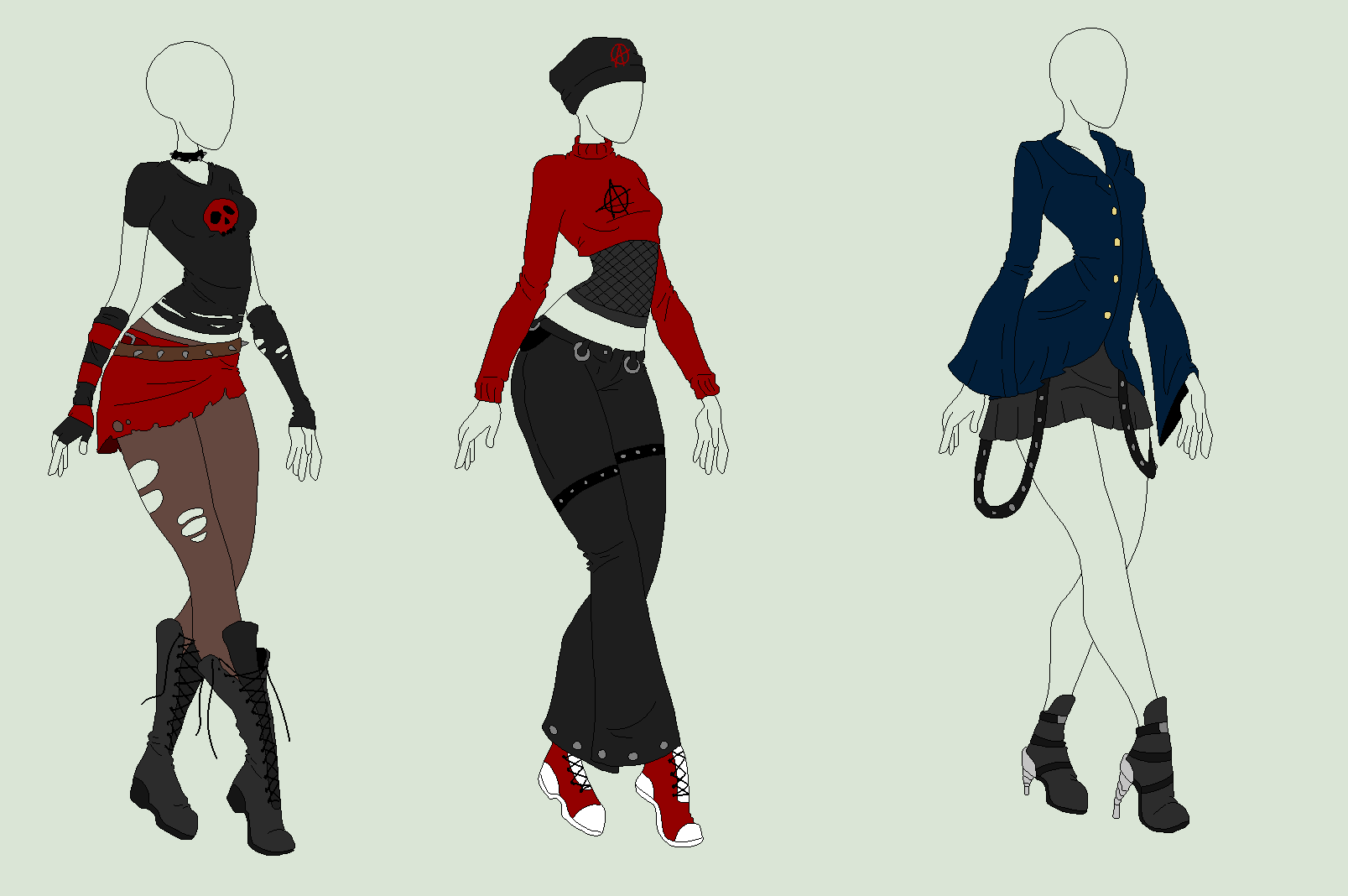 Outfit Adopts 3 Pack Fancy Punk Ladies Sold By