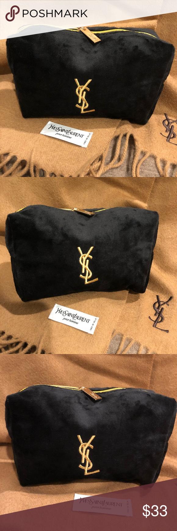 2f0efb816671 Authentic NWOT YSL Yves Black Velvet Makeup bag Authentic NWOT YSL Black  Velvet Makeup bag.