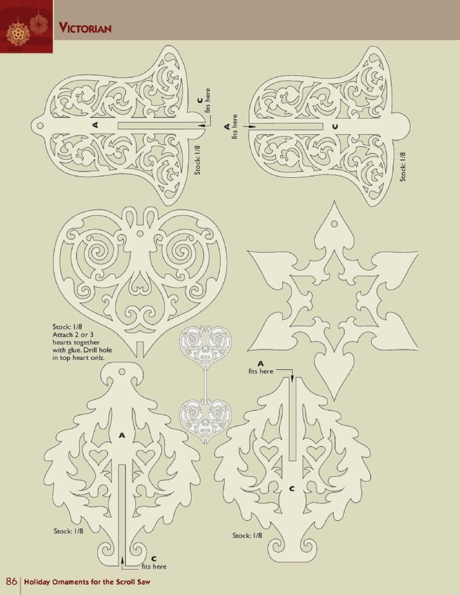 Holiday ornaments for the scroll saw scroll saw patterns