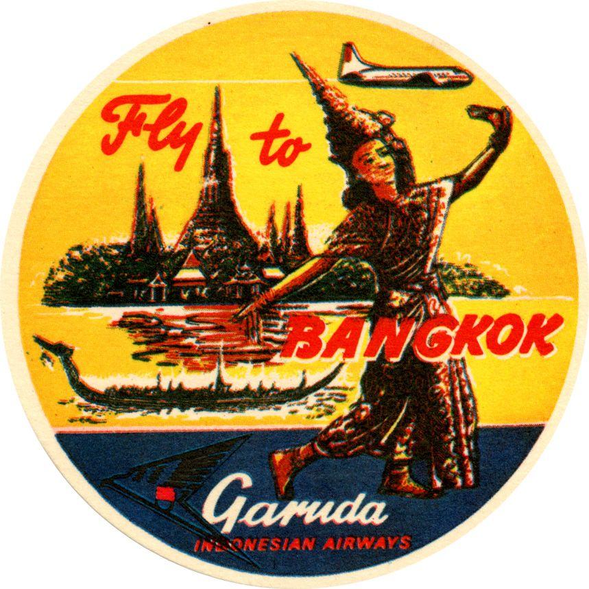 Garuda Airways Luggage Stickers http://www.flickr.com/photos/1f2frfbf/