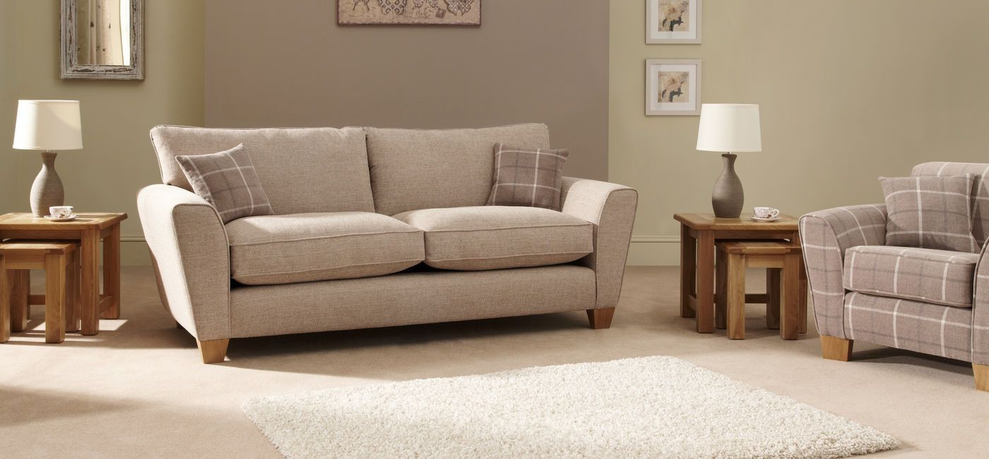 Lois 3 Seater Sofa Standard Back Sofa, Living room