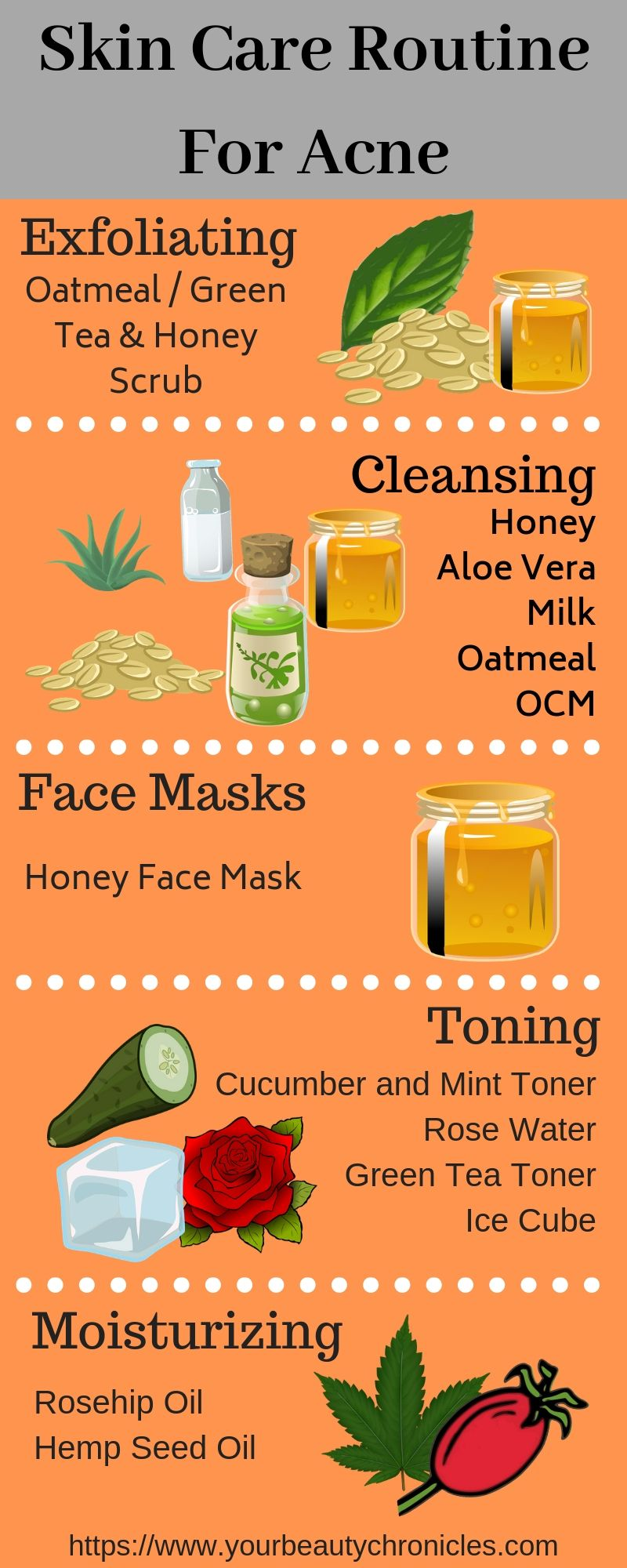 The All Natural Skin Care Routine For Acne With Images All