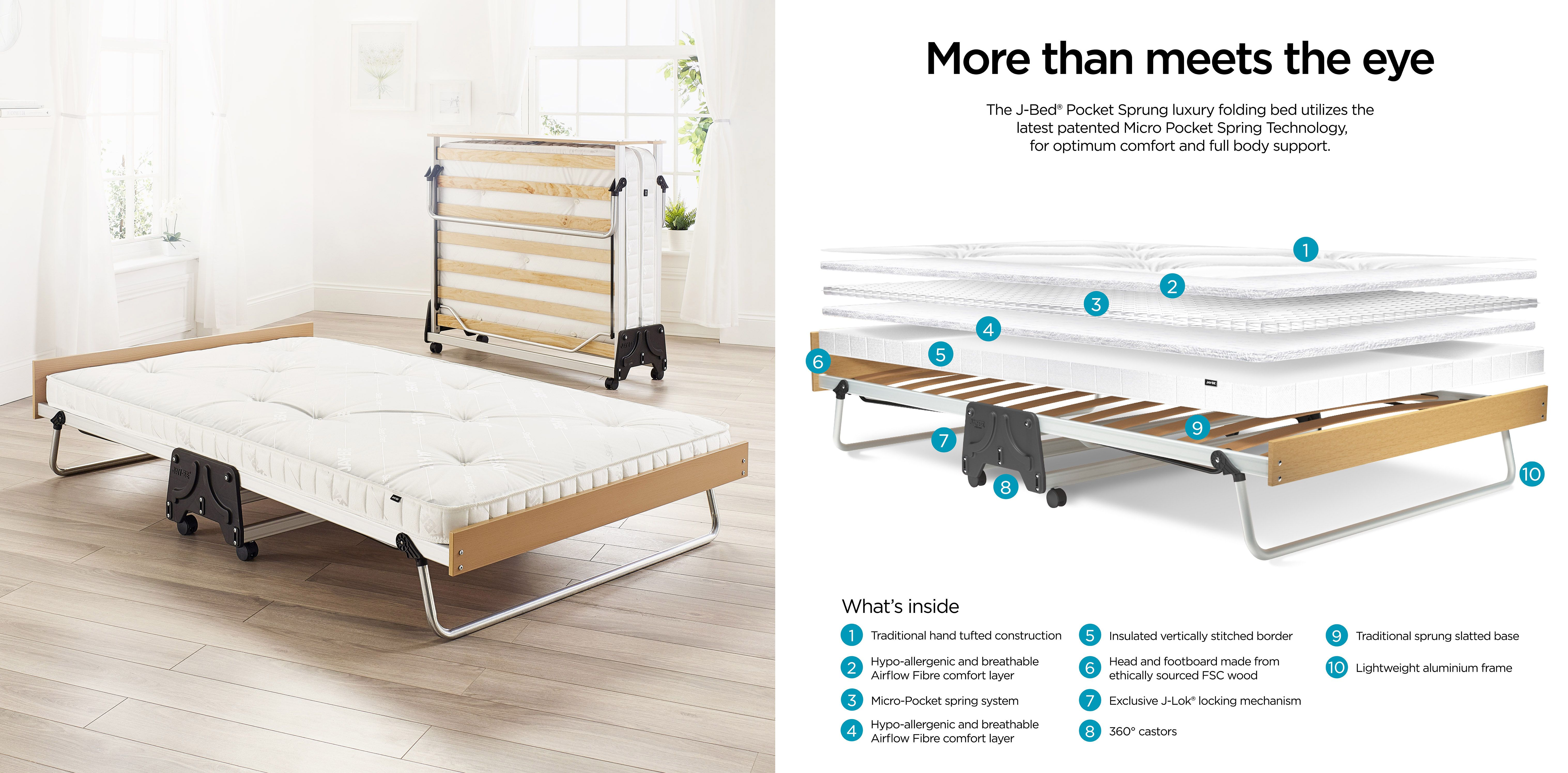 A Folding Bed That Feels Like A Real Bed Interiordesign