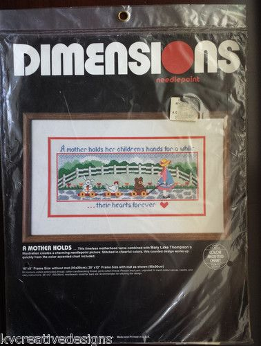 Dimensions A Mother Holds Her Children's Hand Needlepoint Kit New SEALED | eBay