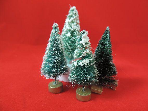 vintage bottle brush christmas tree collection miniature Christmas