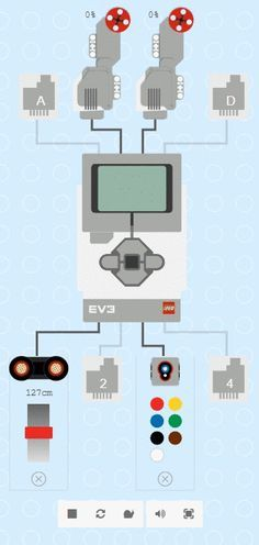 Ev3 Simulator With Motors And Sensors Lego Mindstorms Lego Lego Wedo