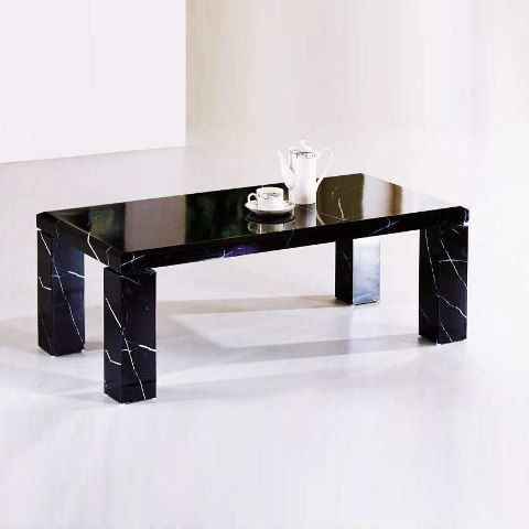 Unique Marble Effect Coffee Table In Black Marble Mania