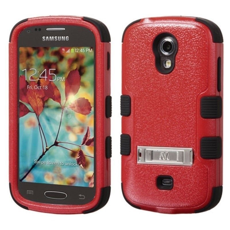Insten Dual Layer Hybrid Stand Rubberized Hard Plastic PC/ Silicone Phone Case Cover For Samsung Galaxy Light SGH-T399