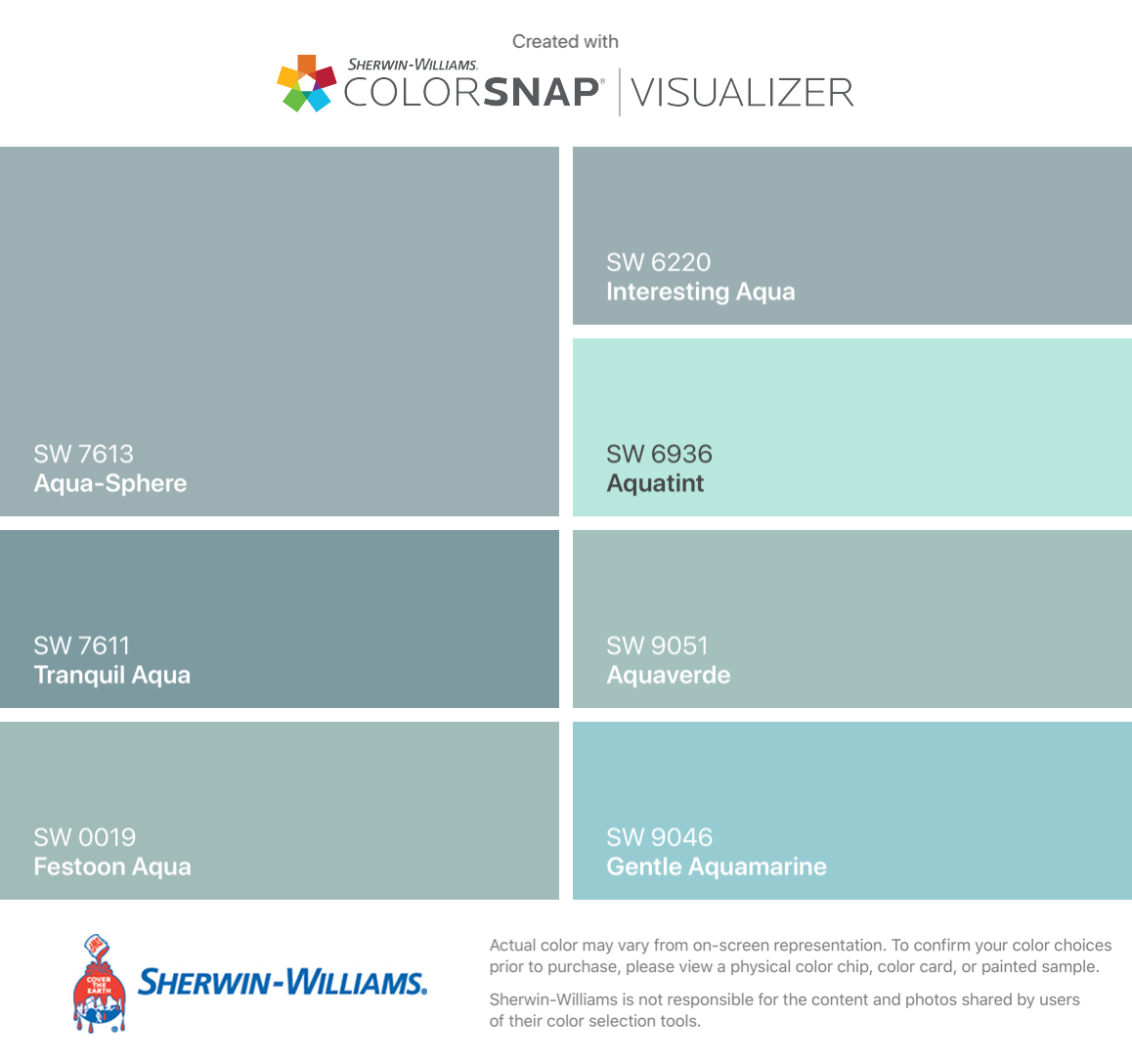 I Found These Colors With Colorsnap Visualizer For Iphone By Sherwin Aqua Paint Color Sherwin Williams Interior Paint Colors For Living Room Aqua Paint Colors