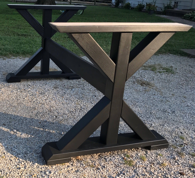 Table base, wood table base custom built Wooden